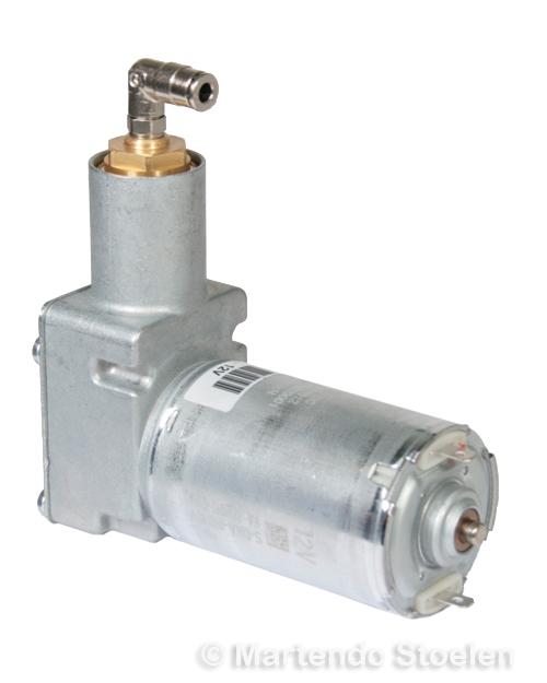 Compressor 12 Volt met haakse insteektule 4 mm.