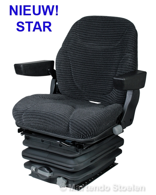 STAR mechanisch geveerde trekkerstoel met armleuningen