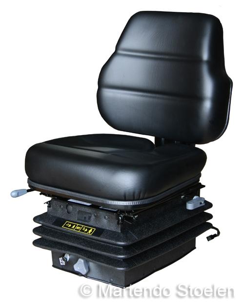 Cobo luchtgeveerde tractorstoel SC70/M97 PVC zwart