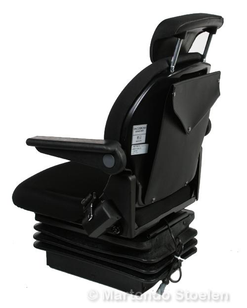 Cobo mechanisch geveerde tractorstoel SR840/M200 stof zwart