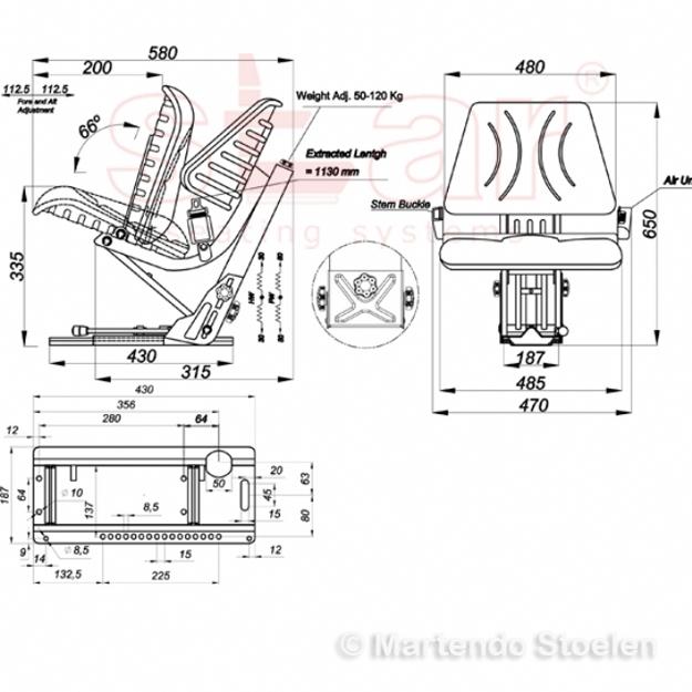 Deutz - STAR tractorstoel MS44/1 KHD - ST13DS05