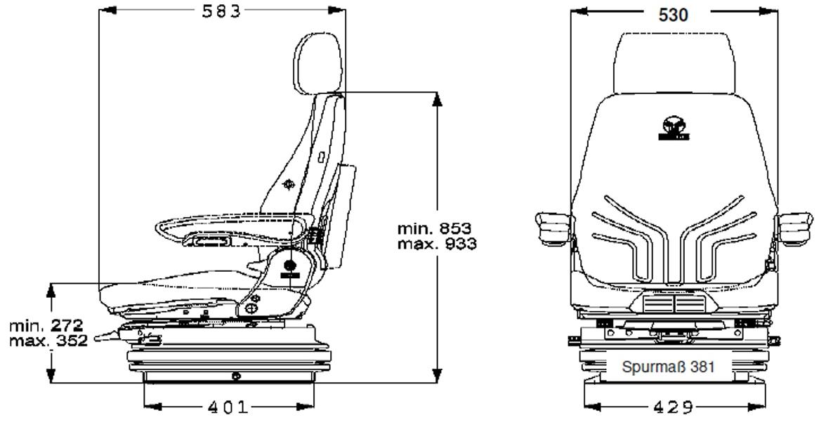Grammer luchtgeveerde ActimoXXL MSG97AL/732 met 4-puntgordel