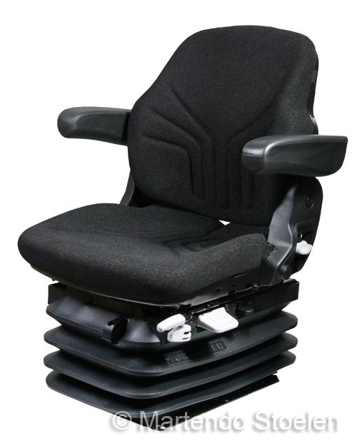 Grammer luchtgeveerde tractorstoel Maximo L/G stof zwart