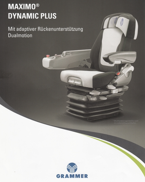 Grammer Maximo Dynamic Plus DUALMOTION met armleuning rechts