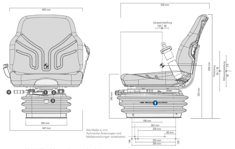 Grammer tractorstoel Compacto Basic XM Kunstleer Zwart