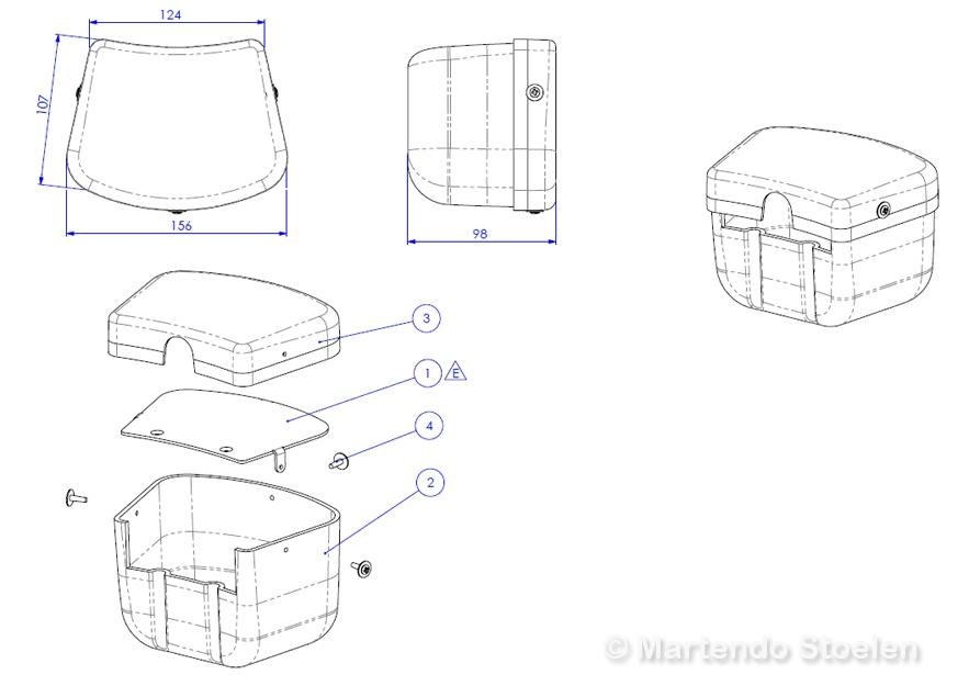 Joystickhouder / Joystick box Sittab voor oa Armflex GF