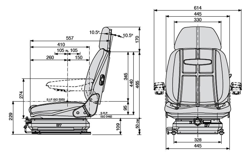 Mechanisch geveerde heftruckstoel Cobo SC47/M99 PVC