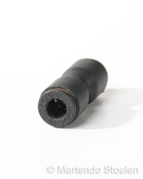 Push-in koppeling voor het verbinden van 4 mm. luchtslang