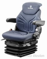Grammer Maximo L luchtgeveerde stoel stof blauw-zwart