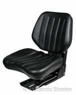 Grammer mechanisch geveerde stoel DS44/1B PVC zwart