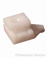 Montageblokje voor zitdiepte- en neigingsverstellingsplaat