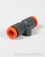 Push-in koppeling voor het verbinden van 6 mm. luchtslang