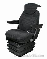 STAR luchtgeveerde stoel met armleuningen en rugverlenging