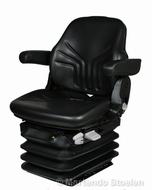 Grammer luchtgeveerde tractorstoel Maximo L/G PVC zwart