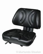 STAR ongeveerde heftruckstoel / bovendeel F003 PVC zwart
