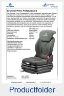 AG1291748 Grammer Primo Professional S MSG75GL-511 stof AGRI of PVC luchtgeveerd