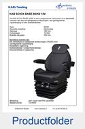 T215930 KAB SCIOX BASE 12V stof zwart met PVC zijranden