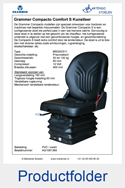 AG1081368 Grammer Compacto Comfort S PVC luchtgeveerd MSG93-511