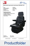 Productfolder E85H90 PVC United Seats tractorstoel