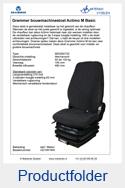 AG1081900 Grammer Actimo M Basic stof matrix mechanisch MSG85-722
