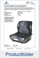 AG1017487 Grammer heftruckstoel met originele stoelschakelaar mechanisch MSG20