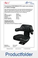 MS54017 STAR voor schuine en vlakke montage PVC zwart mechanisch MS44-2