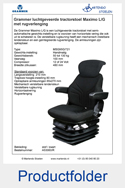 A53060R Grammer Maximo LG met rugverlenging stof zwart luchtgeveerd MSG95G-721
