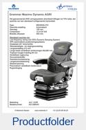 AG1288545 Grammer Maximo Dynamic stof AGRI luchtgeveerd MSG95AL-741