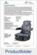 AG1293489 Grammer Primo XL MSG75GL-521 stof blauw-zwart luchtgeveerd