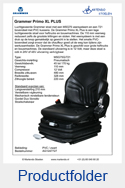 AG1247727 Grammer Primo XL PLUS MSG75G-721 PVC luchtgeveerd