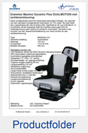AG1323523RA Grammer Maximo Dynamic Plus DUALMOTION met rechterarmleuning stof Grammer Dessin luchtgeveerd MSG95AL-74